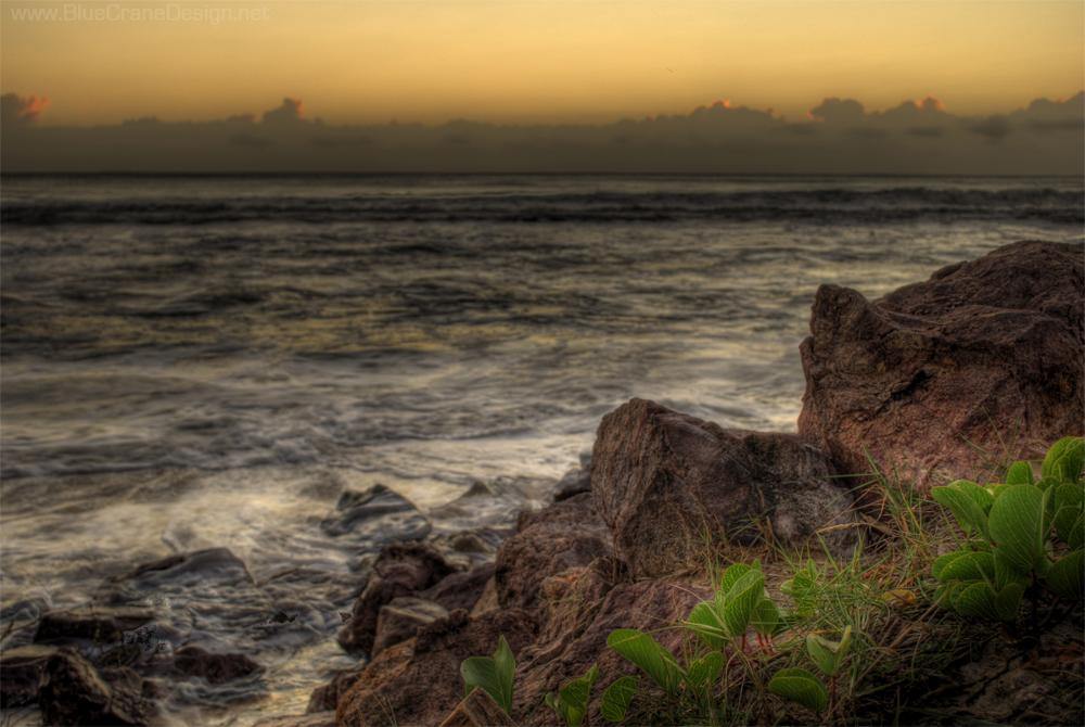 HDR rocks ocean
