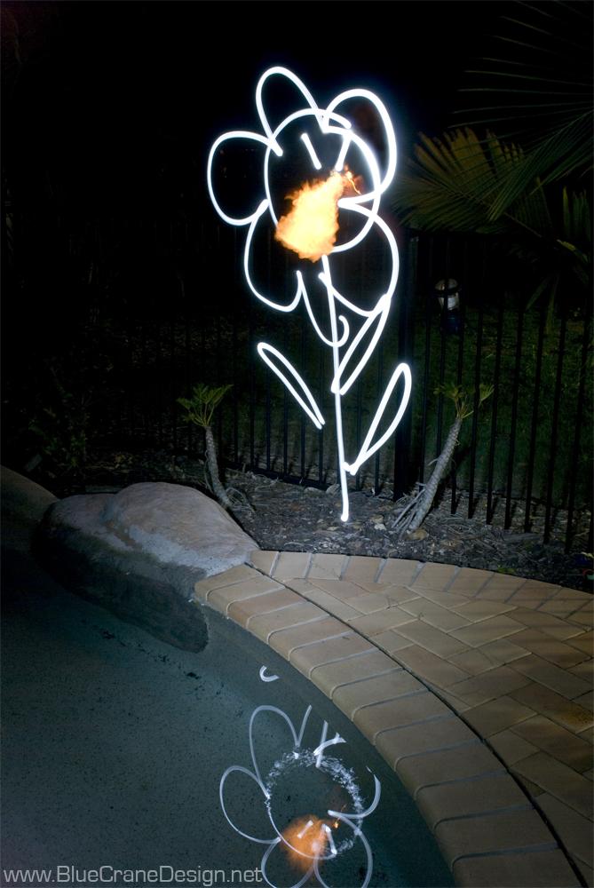 Lightpainting flower