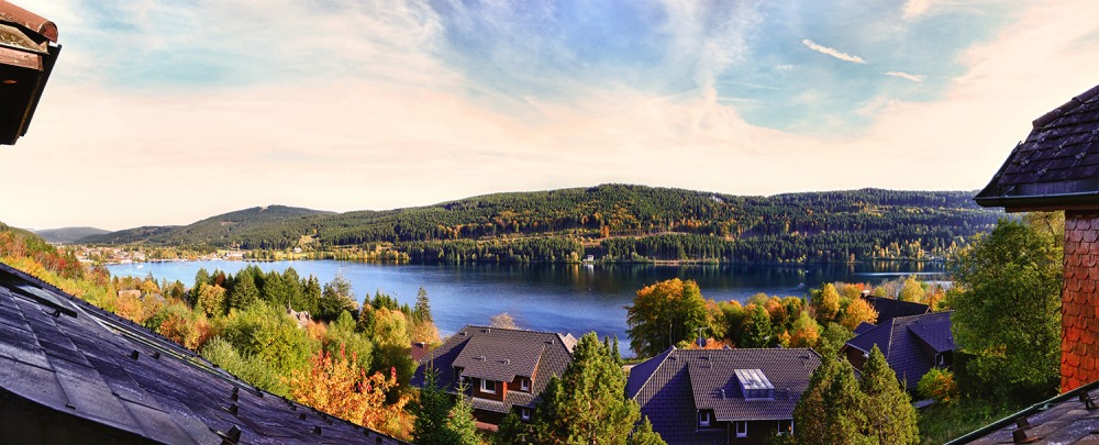 Lake Titisee From My Window Panorama